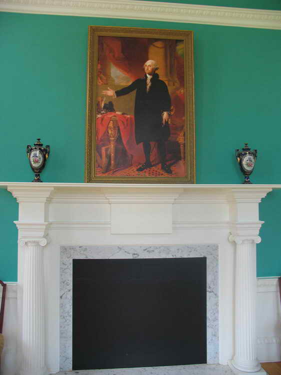oval office fireplace. Washington Oration Is Captured In Oil And Hangs Over An Elegant Fireplace Oval Office