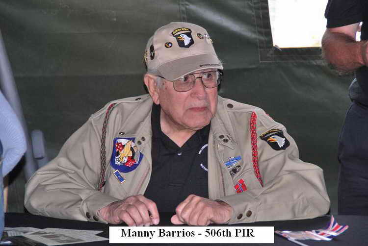 506th Parachute Infantry Regiment. Manny Barrios (506th PIR)